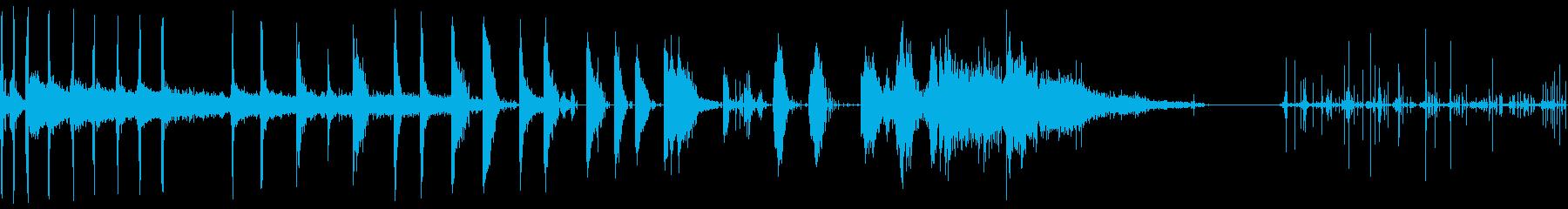 スティーム、ショートバースト、人工...の再生済みの波形
