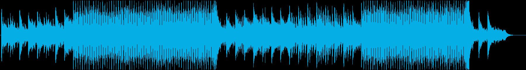 ピアノとシンセのアルペジオの再生済みの波形