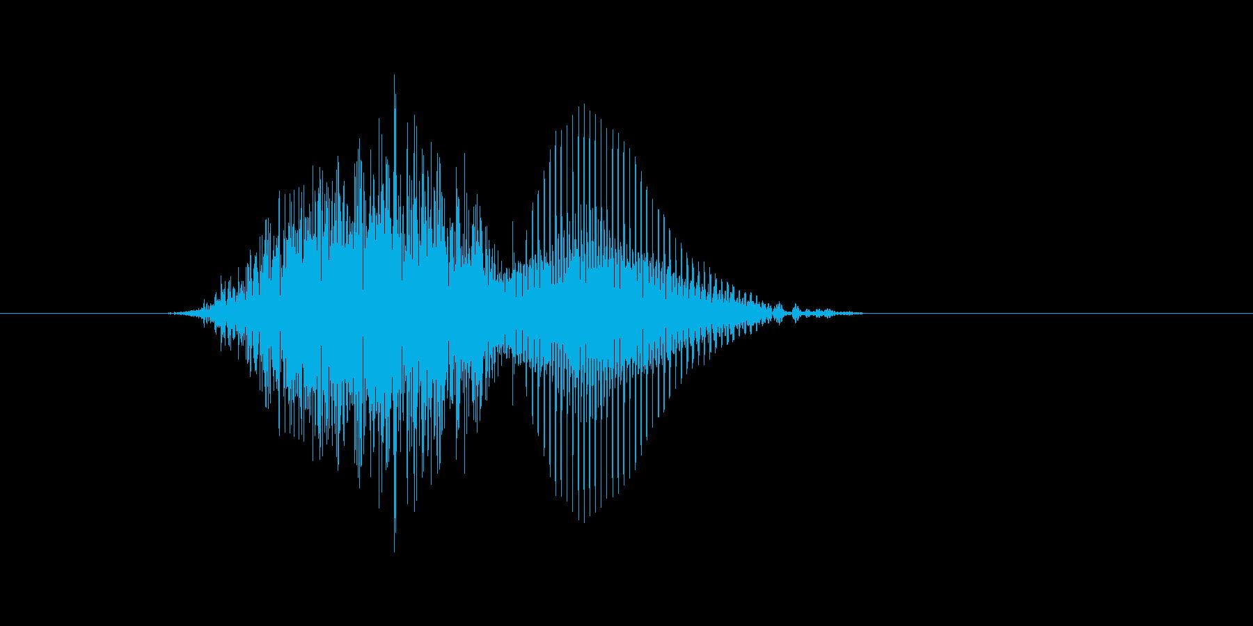 4(し)の再生済みの波形