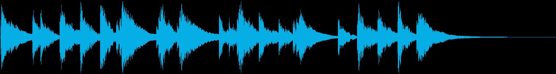 ピチカートのクラシックな短いジングル2の再生済みの波形