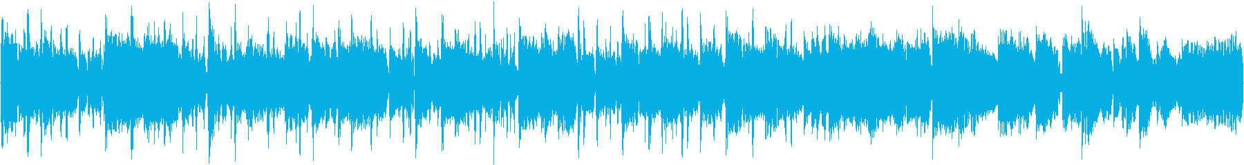 80bpm、E-Maj、ブルース調の再生済みの波形