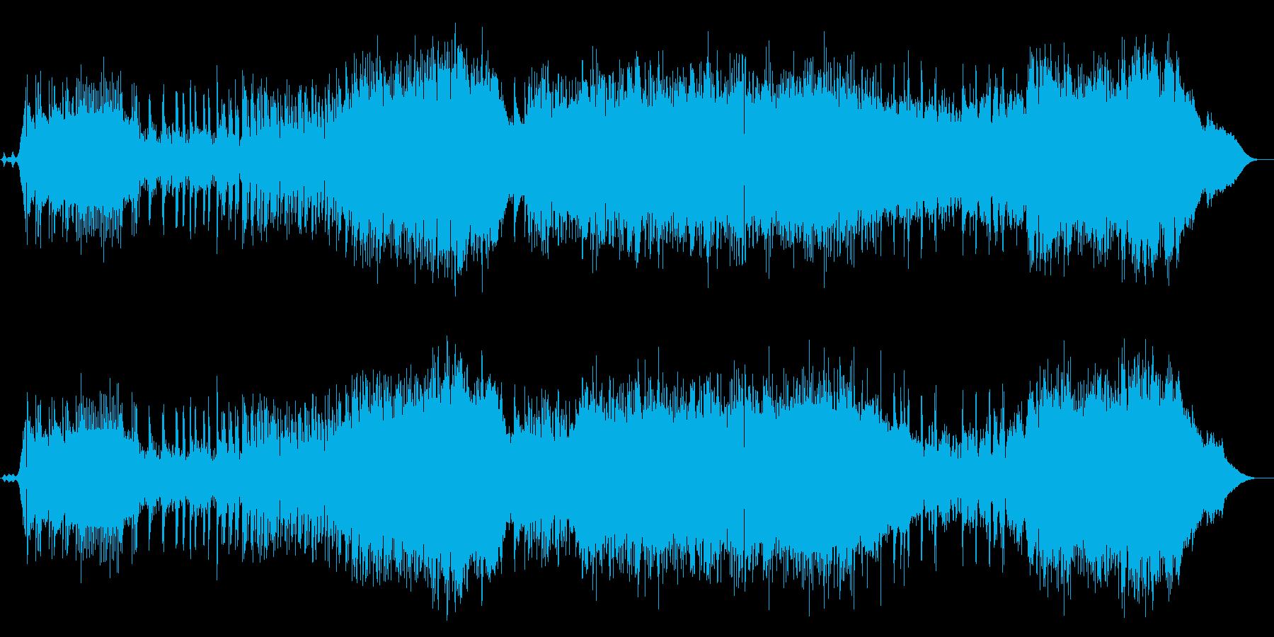 疾走感のあるテンポの速いロックの再生済みの波形