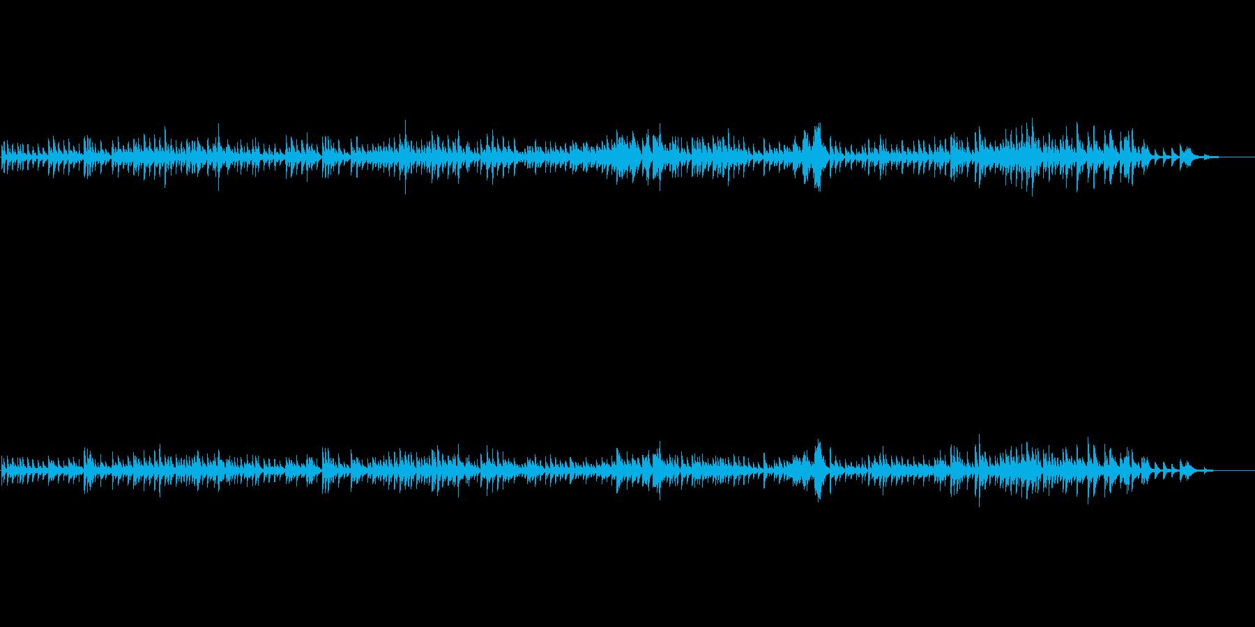 スローテンポで物静かなソロピアノ曲です。の再生済みの波形