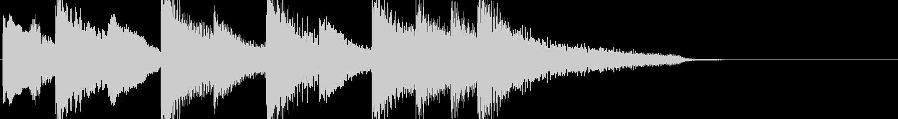 切なく美しいピアノのジングルの未再生の波形