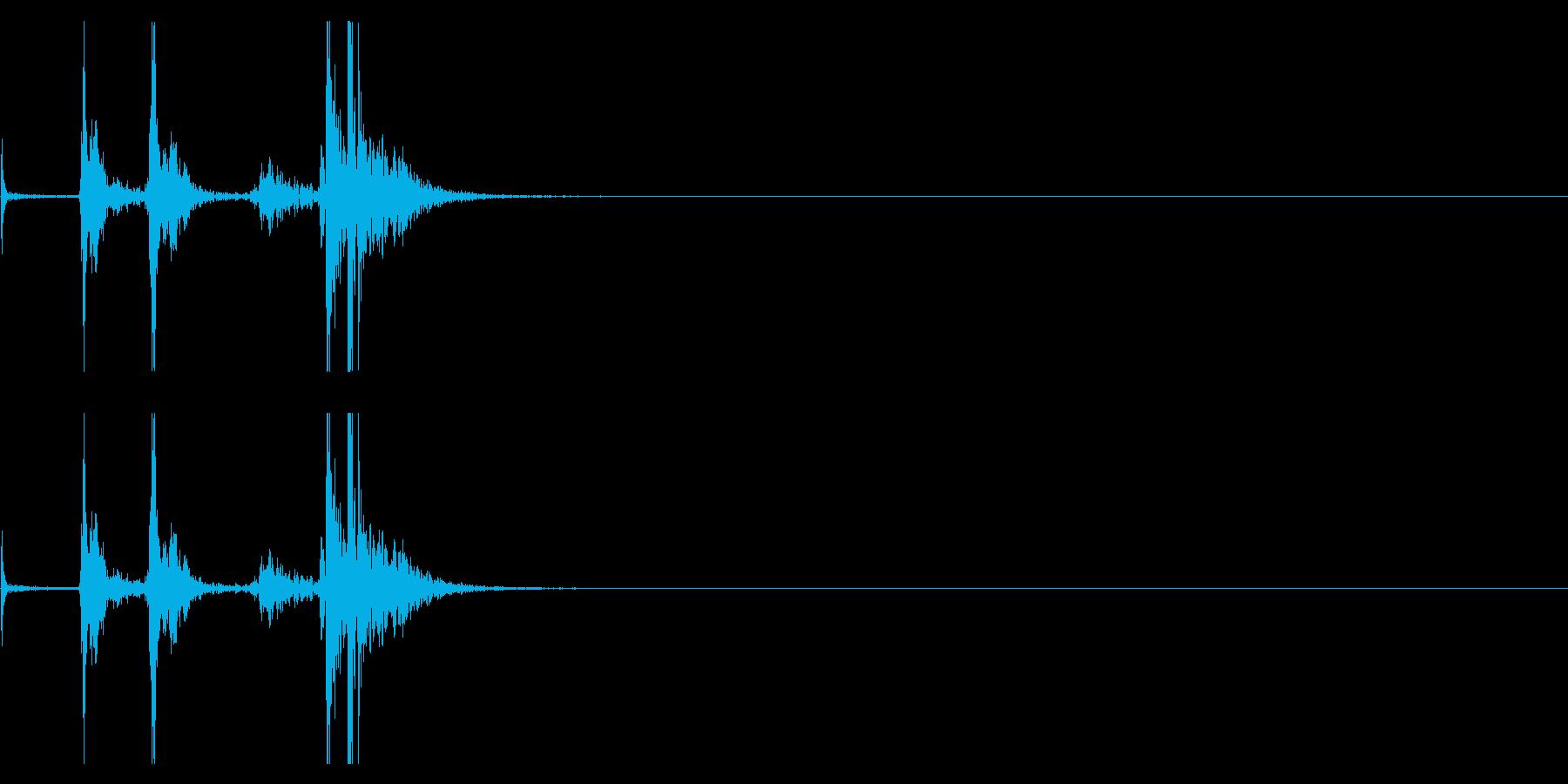 【生録音】タッパー・弁当箱を開ける音 3の再生済みの波形