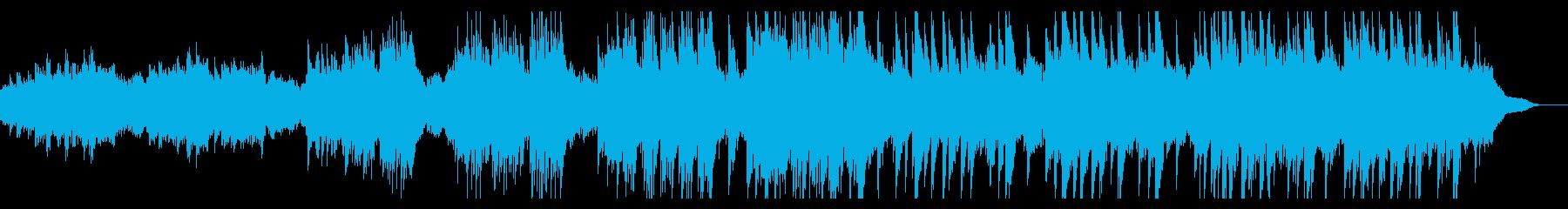 ピアノが重なり合う感動曲の再生済みの波形