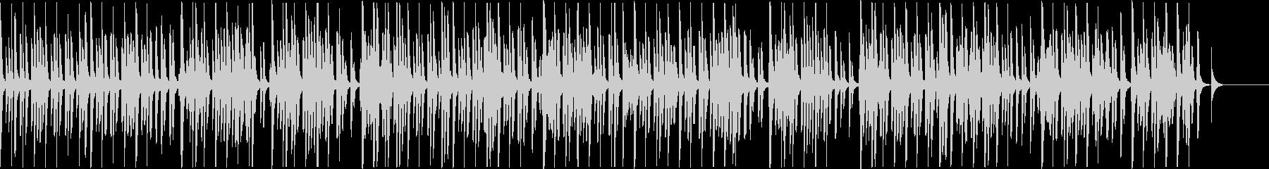 シンプルなミニマルビートの未再生の波形