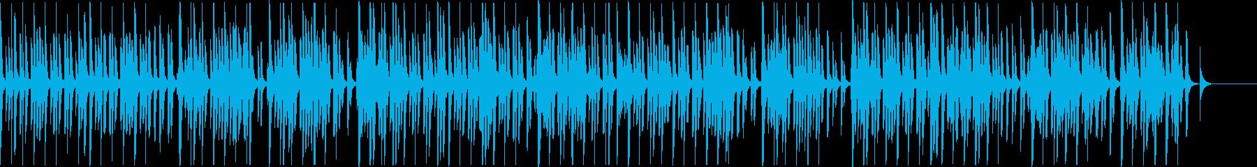 シンプルなミニマルビートの再生済みの波形