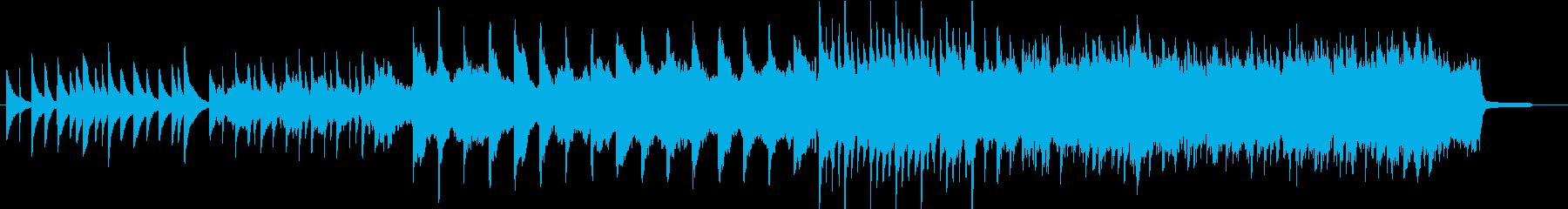 バージンロードを歩く花嫁をイメージした曲の再生済みの波形