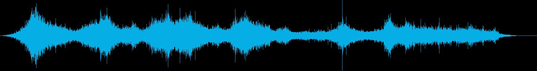 海:波の音の再生済みの波形