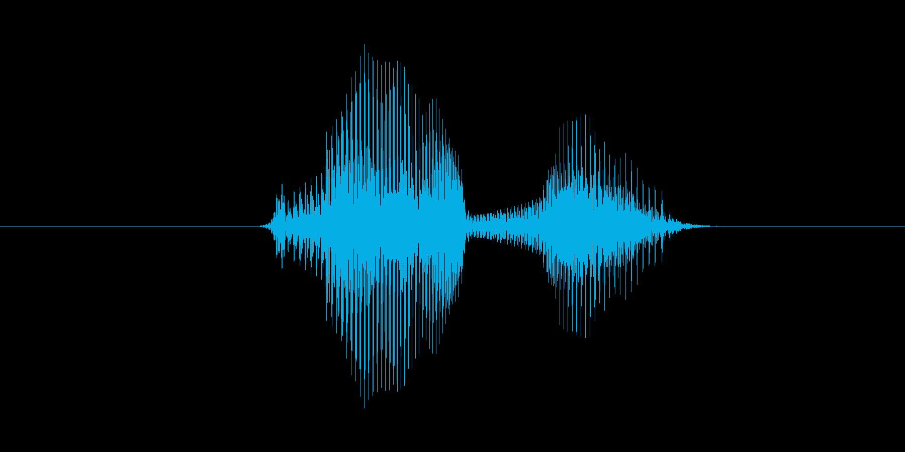 7(数字、女性ver.2)の再生済みの波形