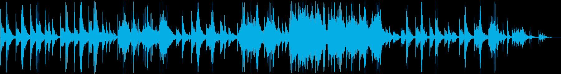 美しく心動かされるピアノメロディの再生済みの波形