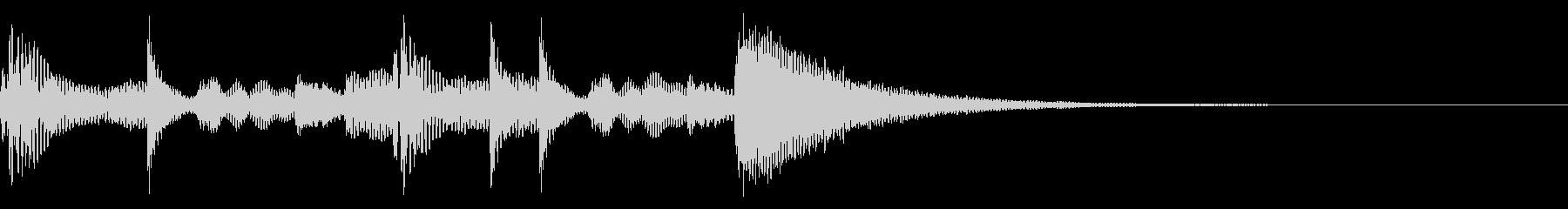 場面転換 民族楽器 リズミカル 独特の未再生の波形