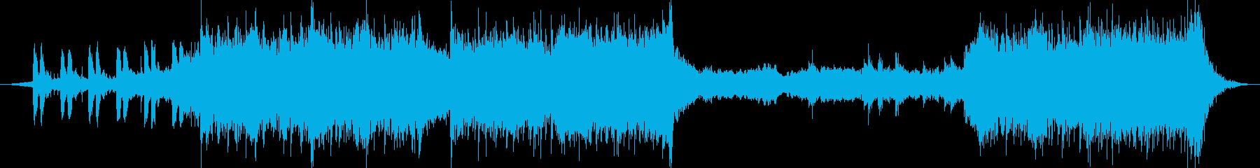 逃走シーン、追いかけるシーンのBGMの再生済みの波形