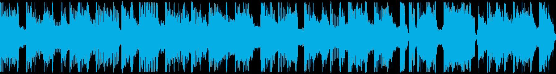 """""""ゆったり過ごす夜""""をイメージのBGMの再生済みの波形"""