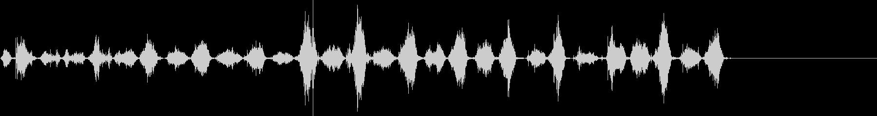 ソーイングボーン&フレッシュ4の未再生の波形