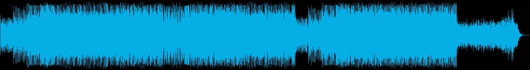 アップテンポなリズミカルなポップテクノの再生済みの波形
