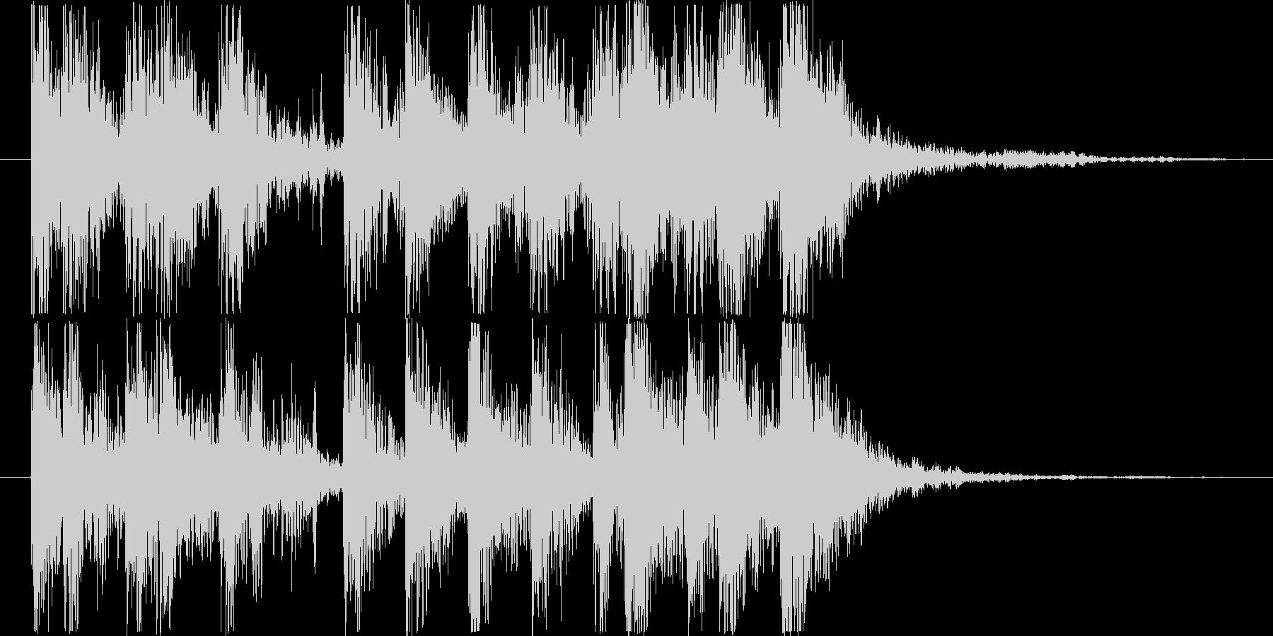 ダイナミックなリズム&パーカッションロゴの未再生の波形