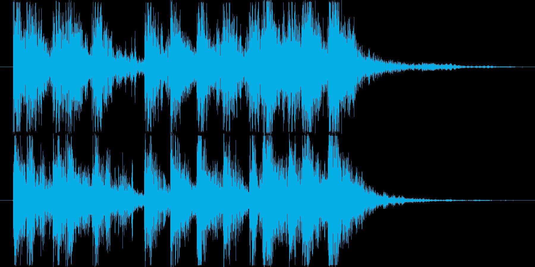 ダイナミックなリズム&パーカッションロゴの再生済みの波形