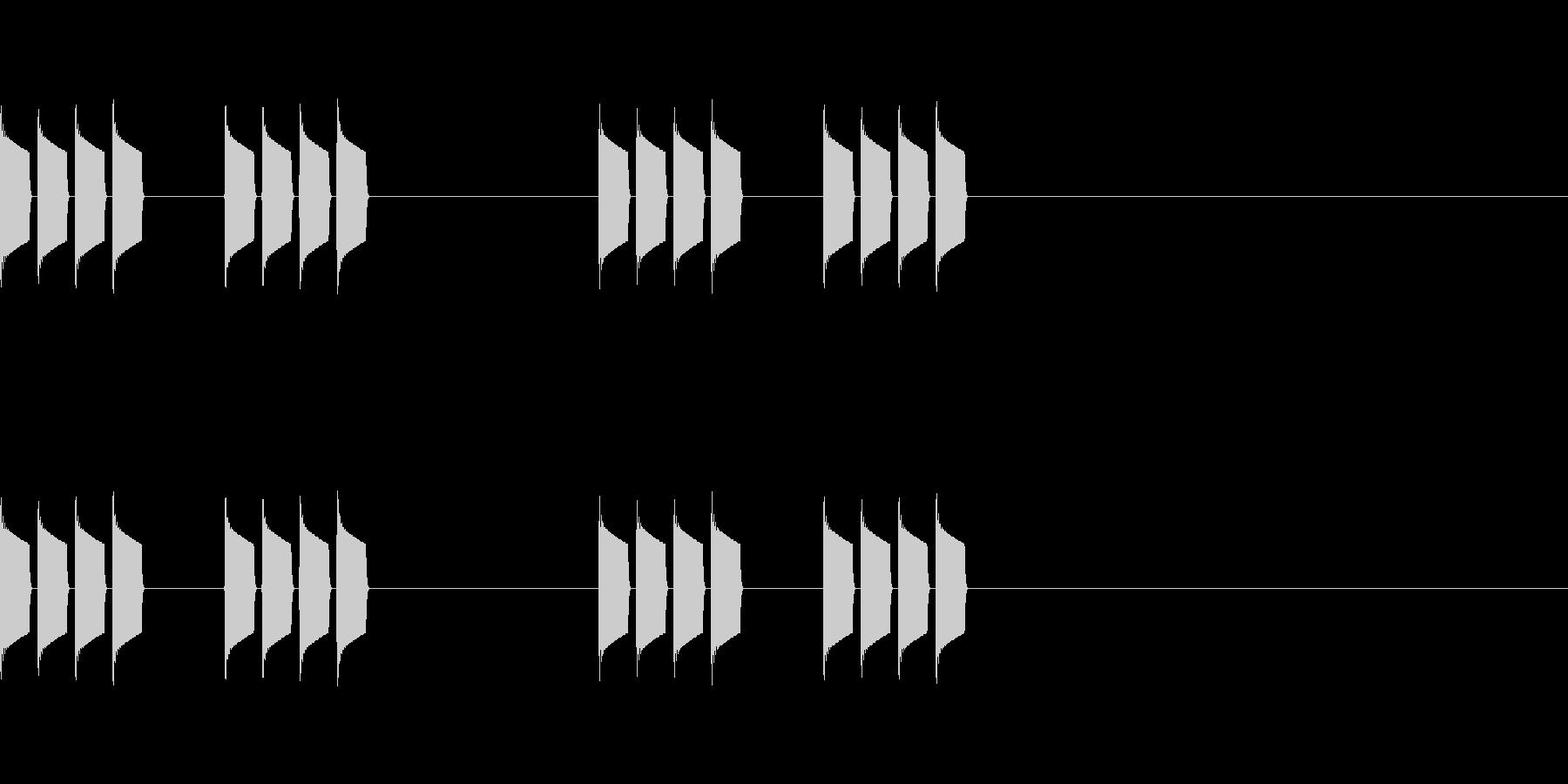 シンプルなアラーム音の未再生の波形