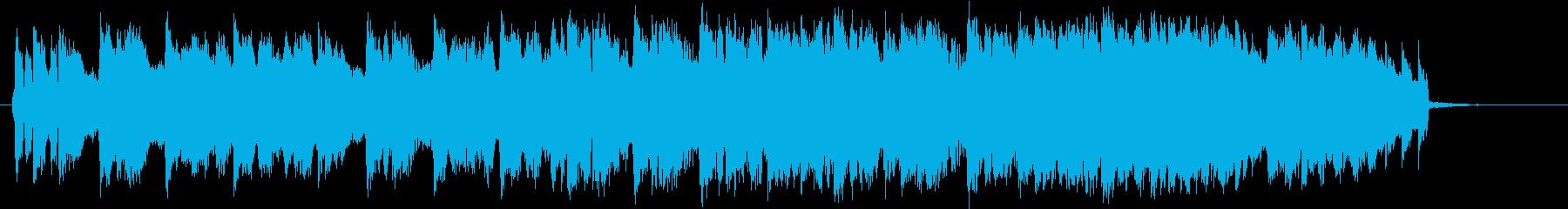 春を歌ったテクノポップの再生済みの波形