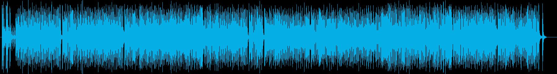 コミカルな雰囲気のポップスの再生済みの波形