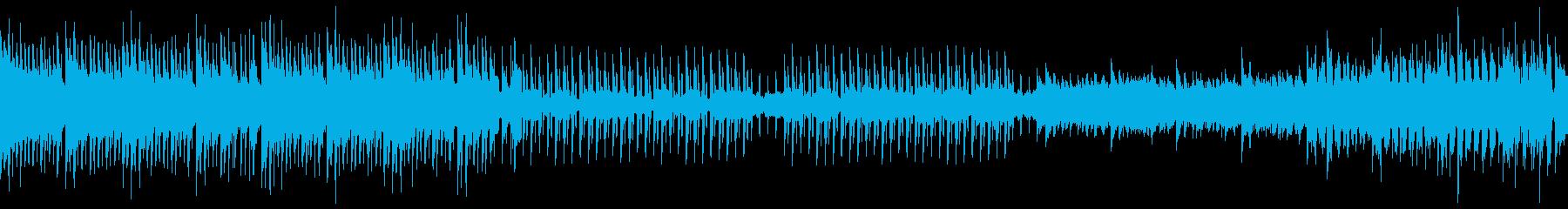 爽やか琴と三味線の和風EDM、優しい尺八の再生済みの波形