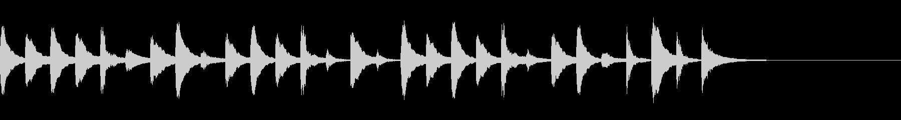木琴のかわいい10秒ジングルの未再生の波形