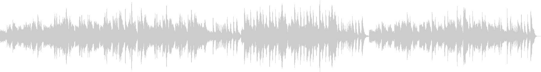 篠笛がメインのしっとりとした曲の未再生の波形