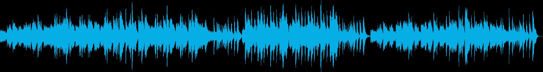 篠笛がメインのしっとりとした曲の再生済みの波形