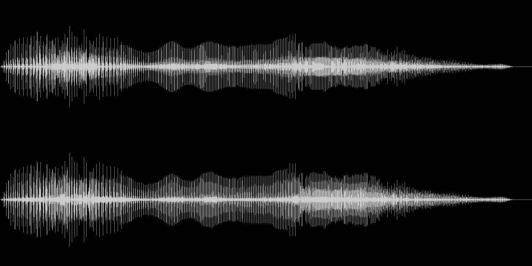 音がこもったおならの未再生の波形