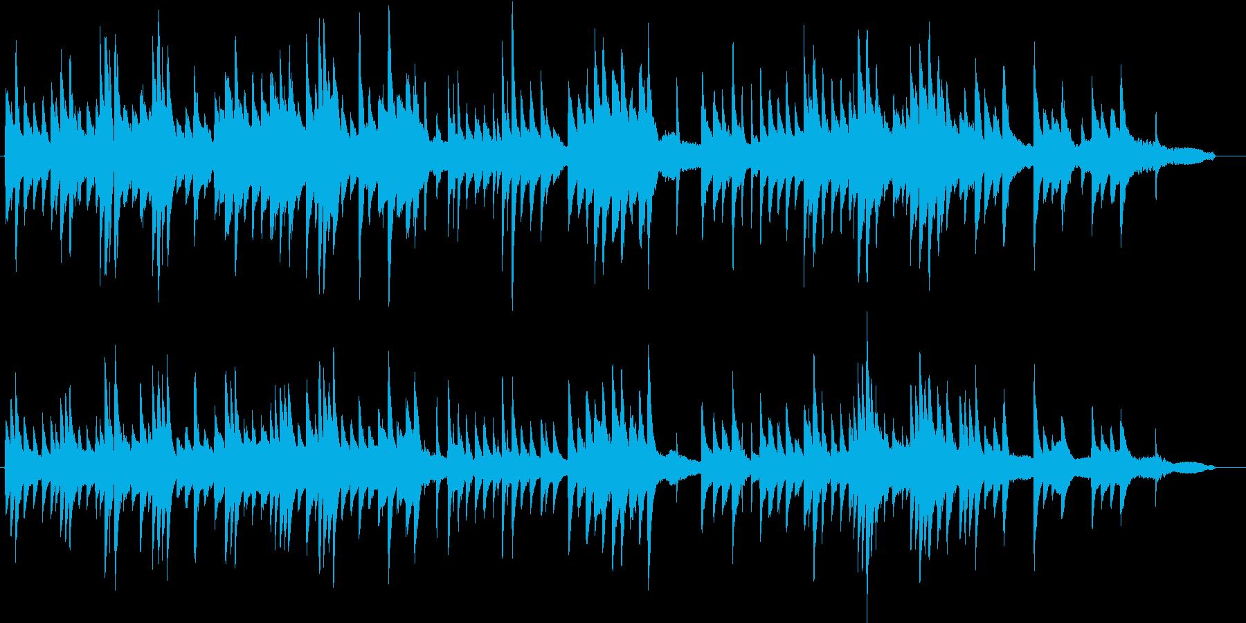 シンプルで静かで前向きでなピアノ曲の再生済みの波形