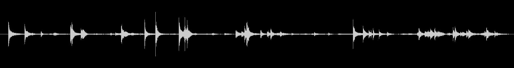 メタル ジングル01を処理するプレートの未再生の波形