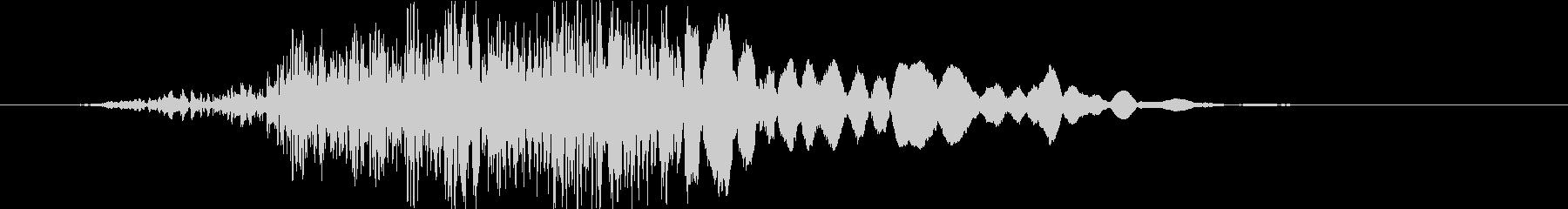 ヘビーヒューシュボディインパクトパ...の未再生の波形