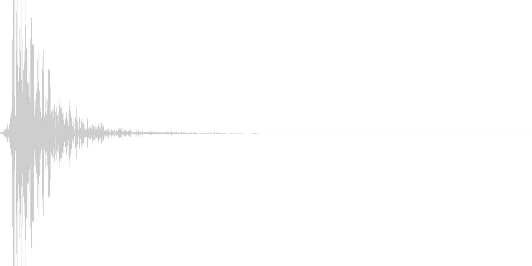 浴槽ハンマーヒット減衰、ローエンドの未再生の波形