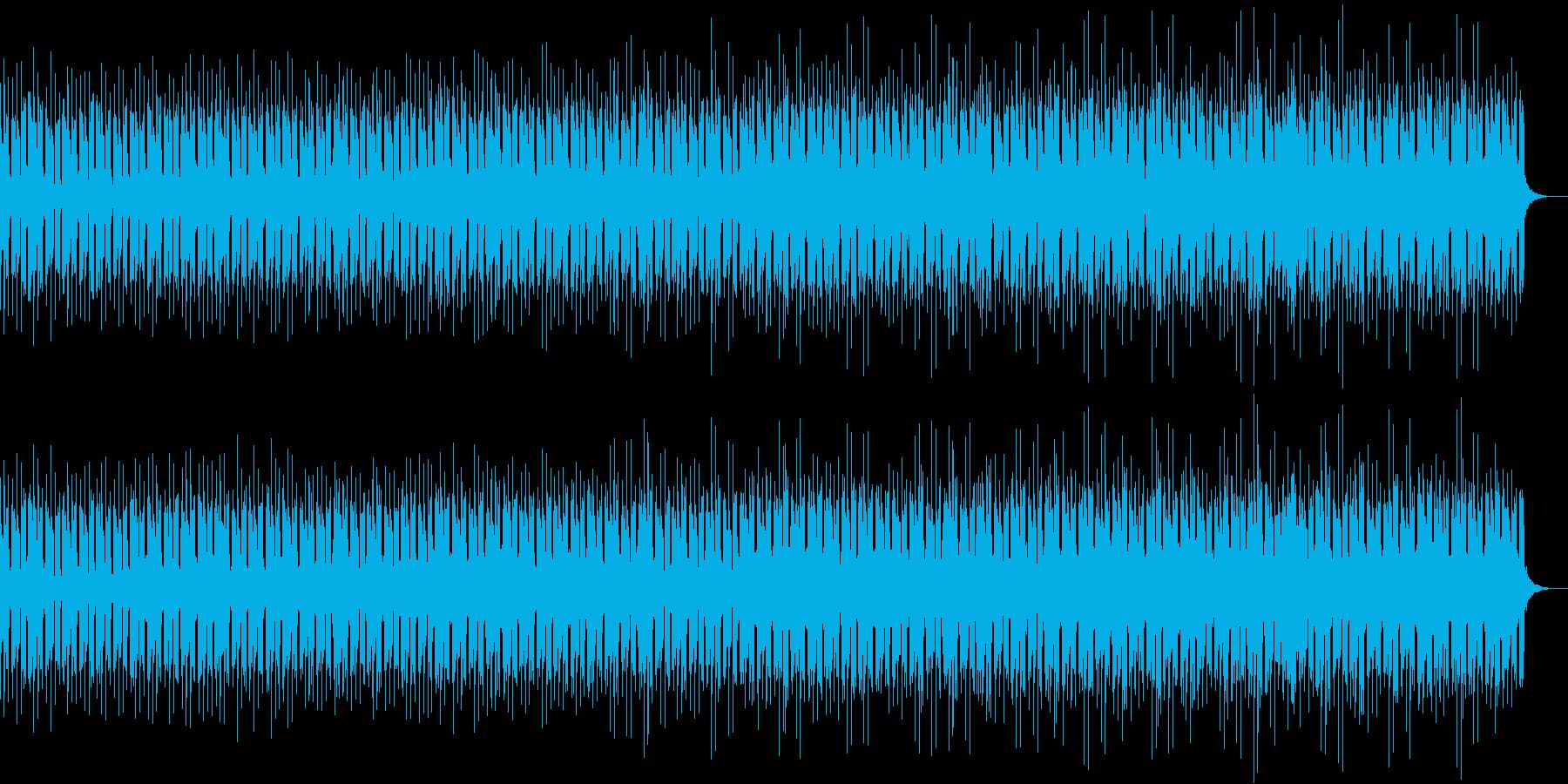 浮遊感あるアーバンなコンピューター曲の再生済みの波形