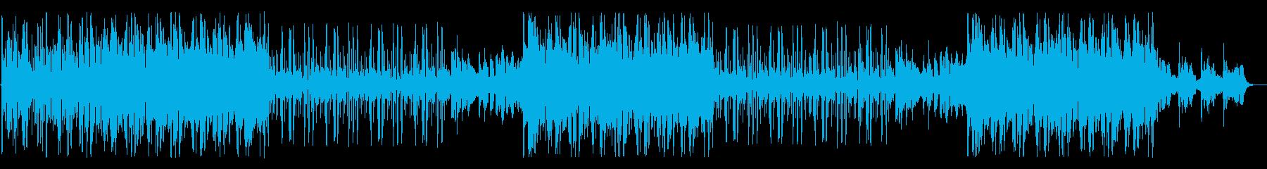 民族楽器を使ったジャズ風ローファイBGMの再生済みの波形