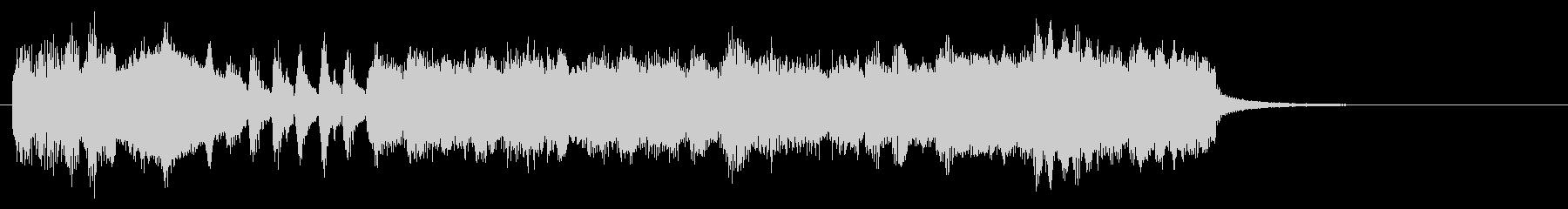 ラプソディインブルーのエンディングの一部の未再生の波形