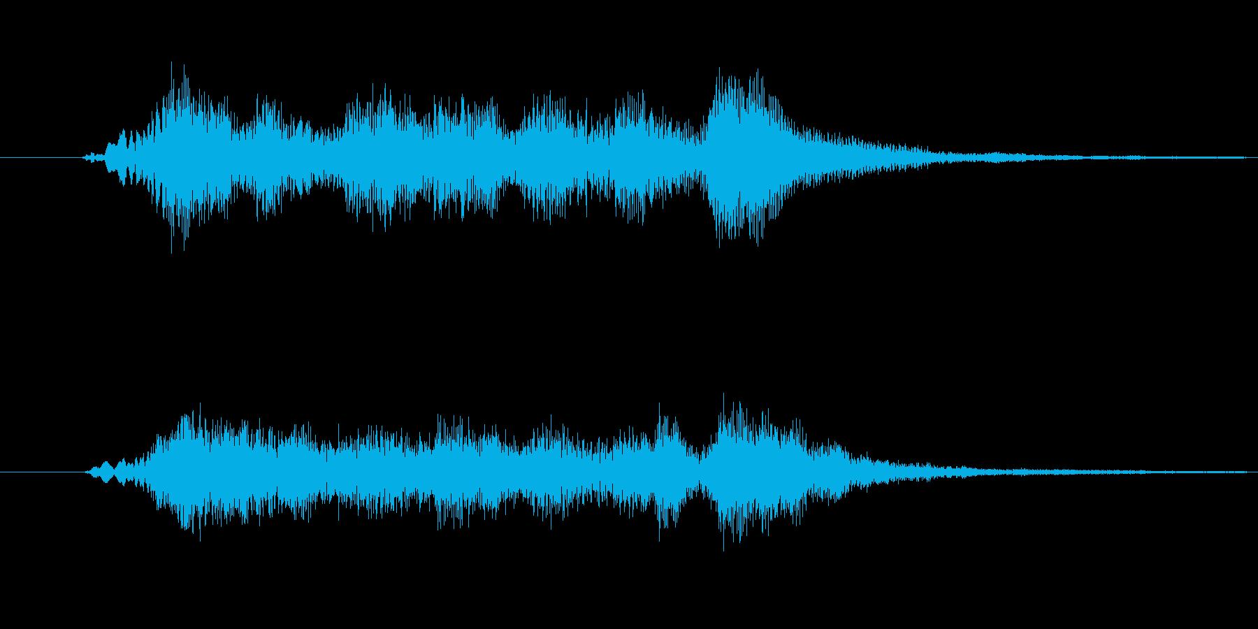 可愛いオーケストラ 効果音 ジングルの再生済みの波形