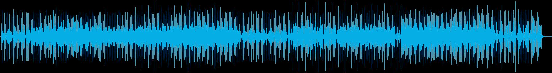 不気味なピアノとラッパが繰り返される曲の再生済みの波形