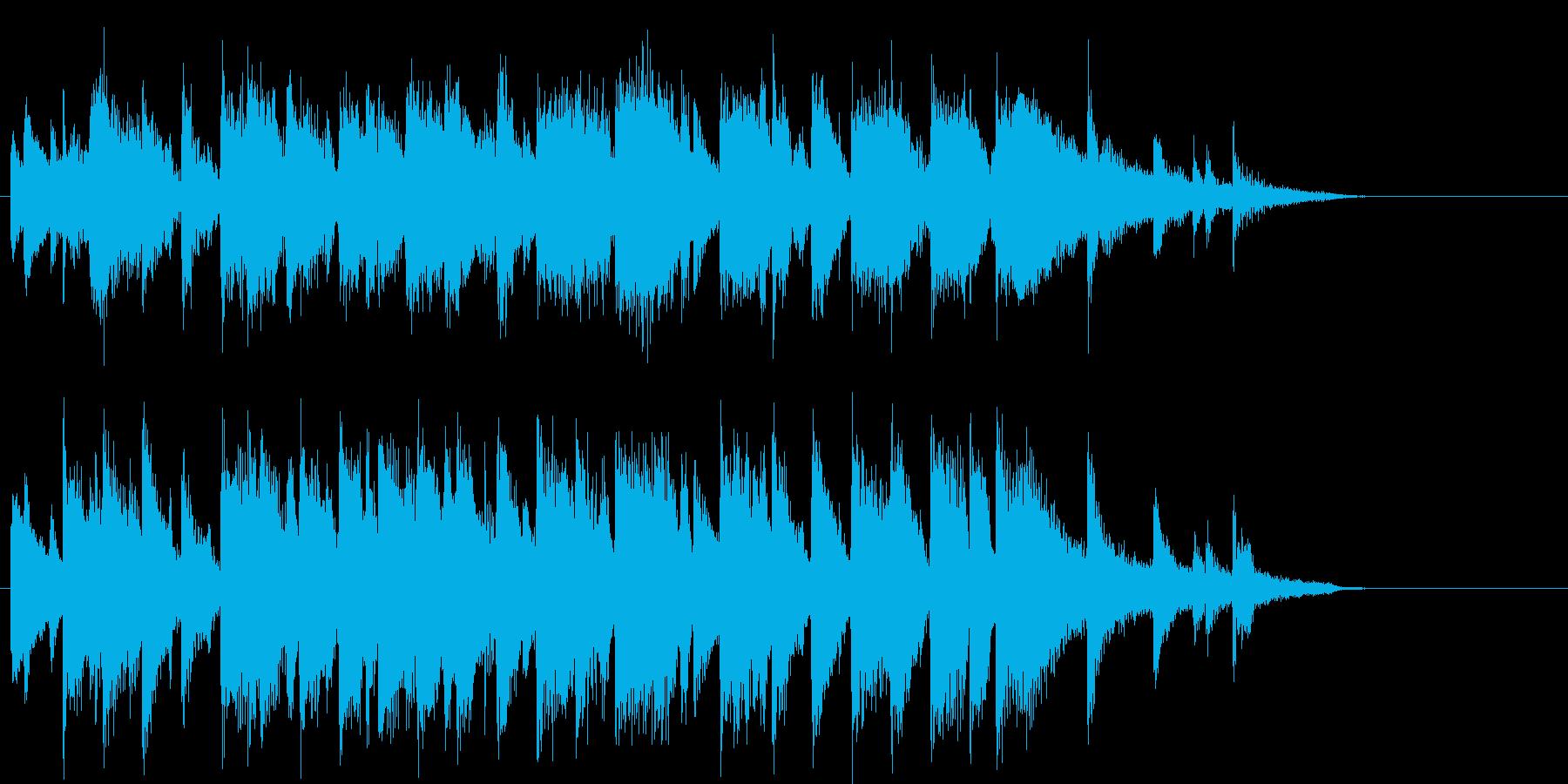 ロマンチックなピアノジャズジングルの再生済みの波形