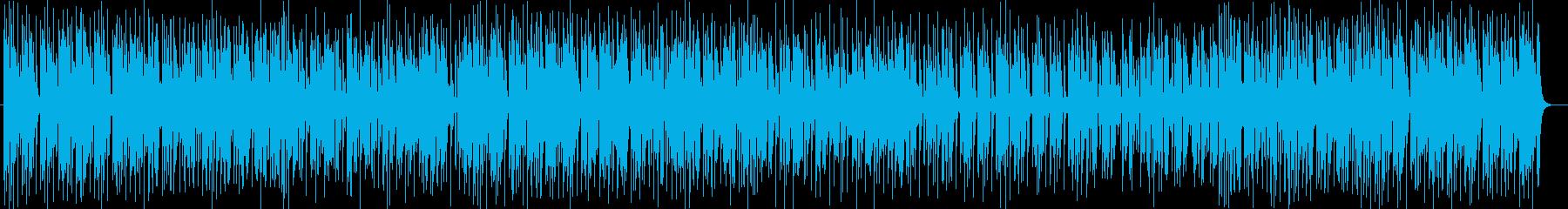 アニメ挿入歌のようなシンセサイザー曲の再生済みの波形
