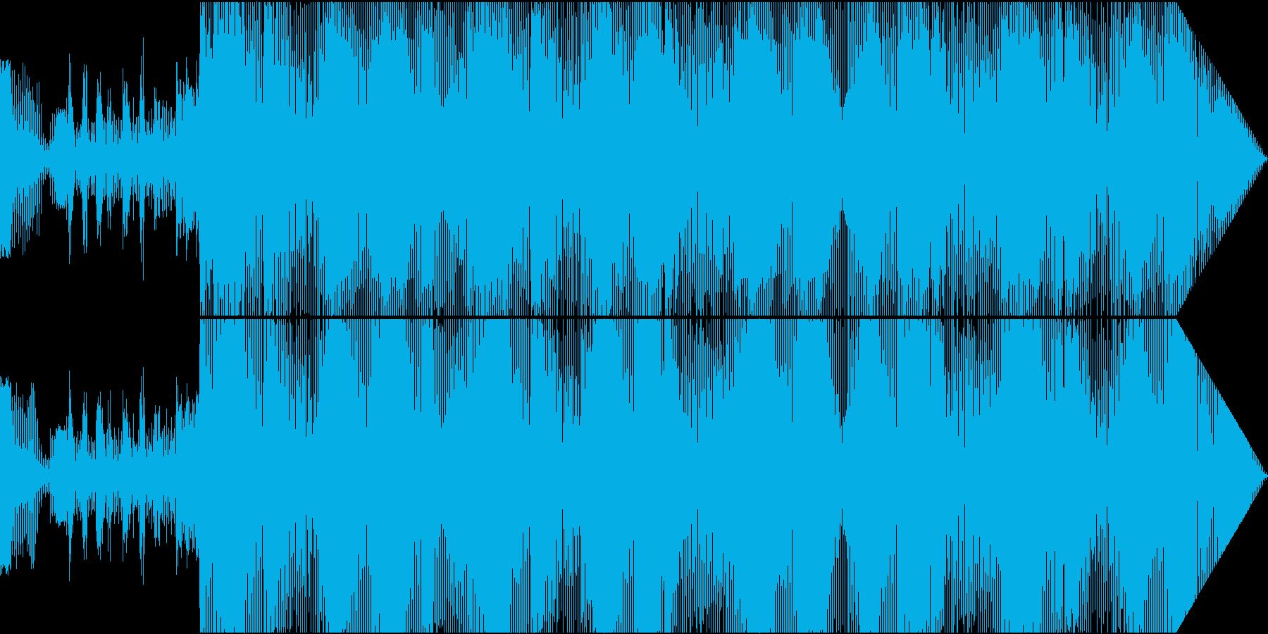 ソウルスタイルのダンスミュージックの再生済みの波形