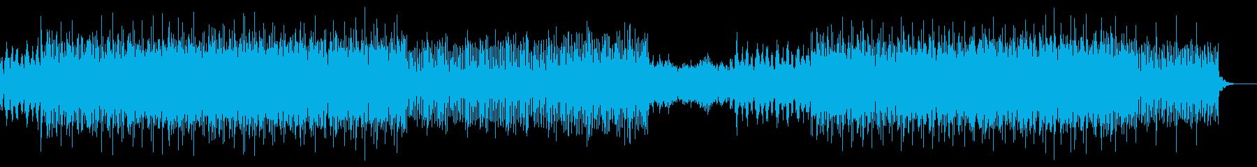 テンポの良いテクノロックサウンドの再生済みの波形