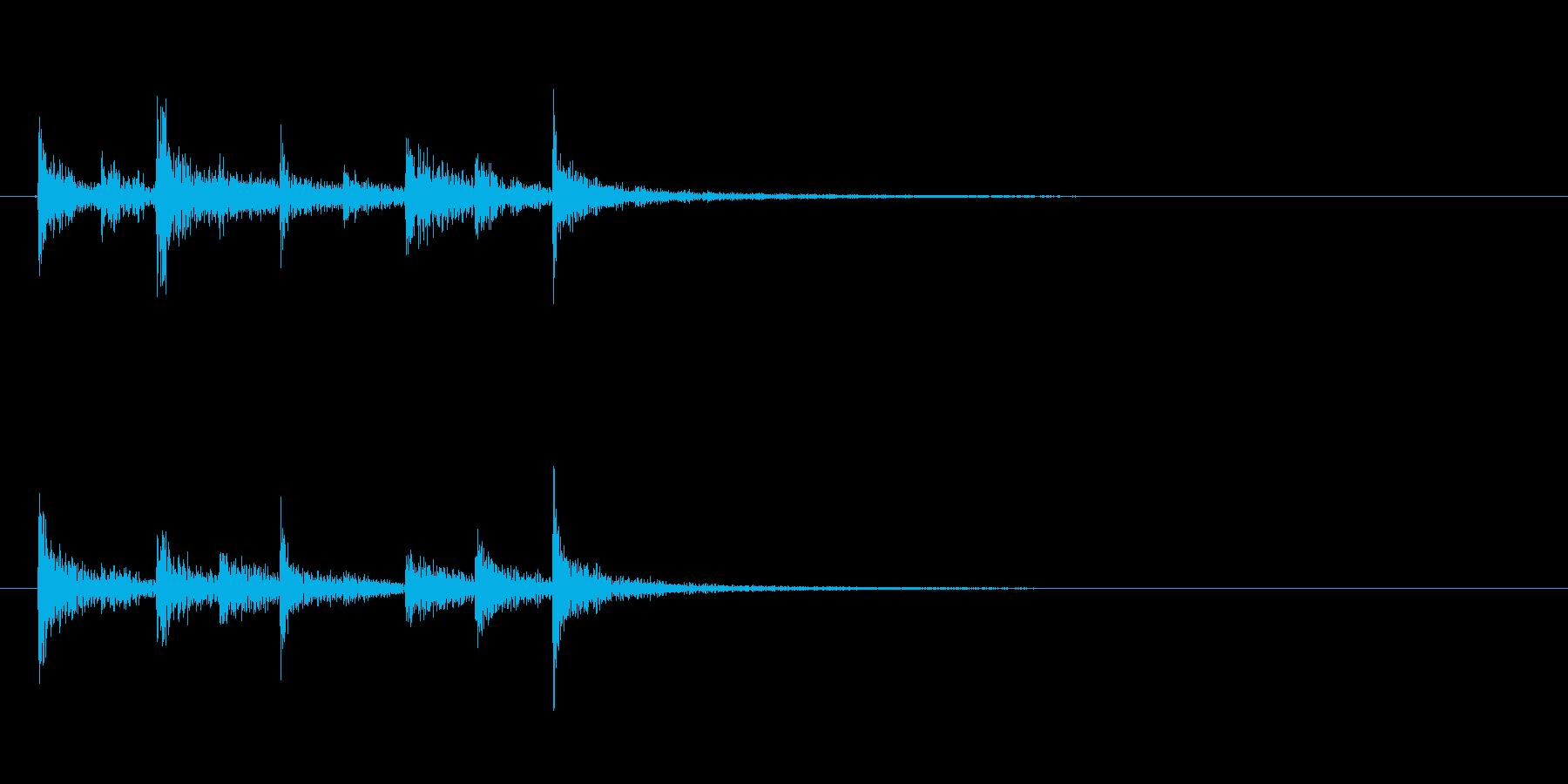 ティンパニ、(手)、アクセント、シ...の再生済みの波形