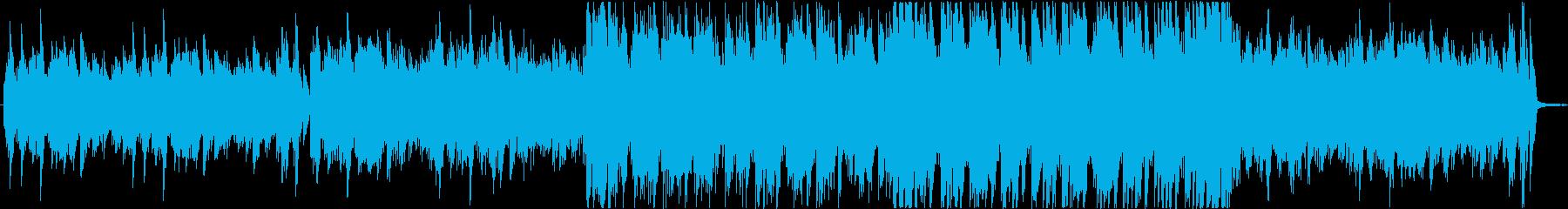 印象的なフレーズに繋がるBGMの再生済みの波形