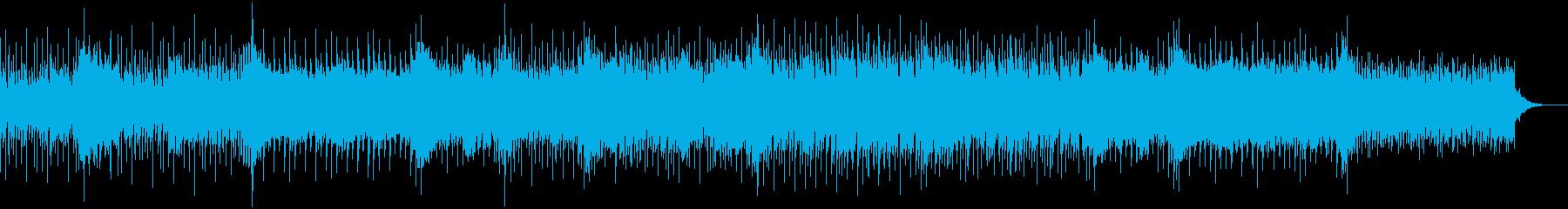 不思議な雰囲気の流れるようなBGMの再生済みの波形