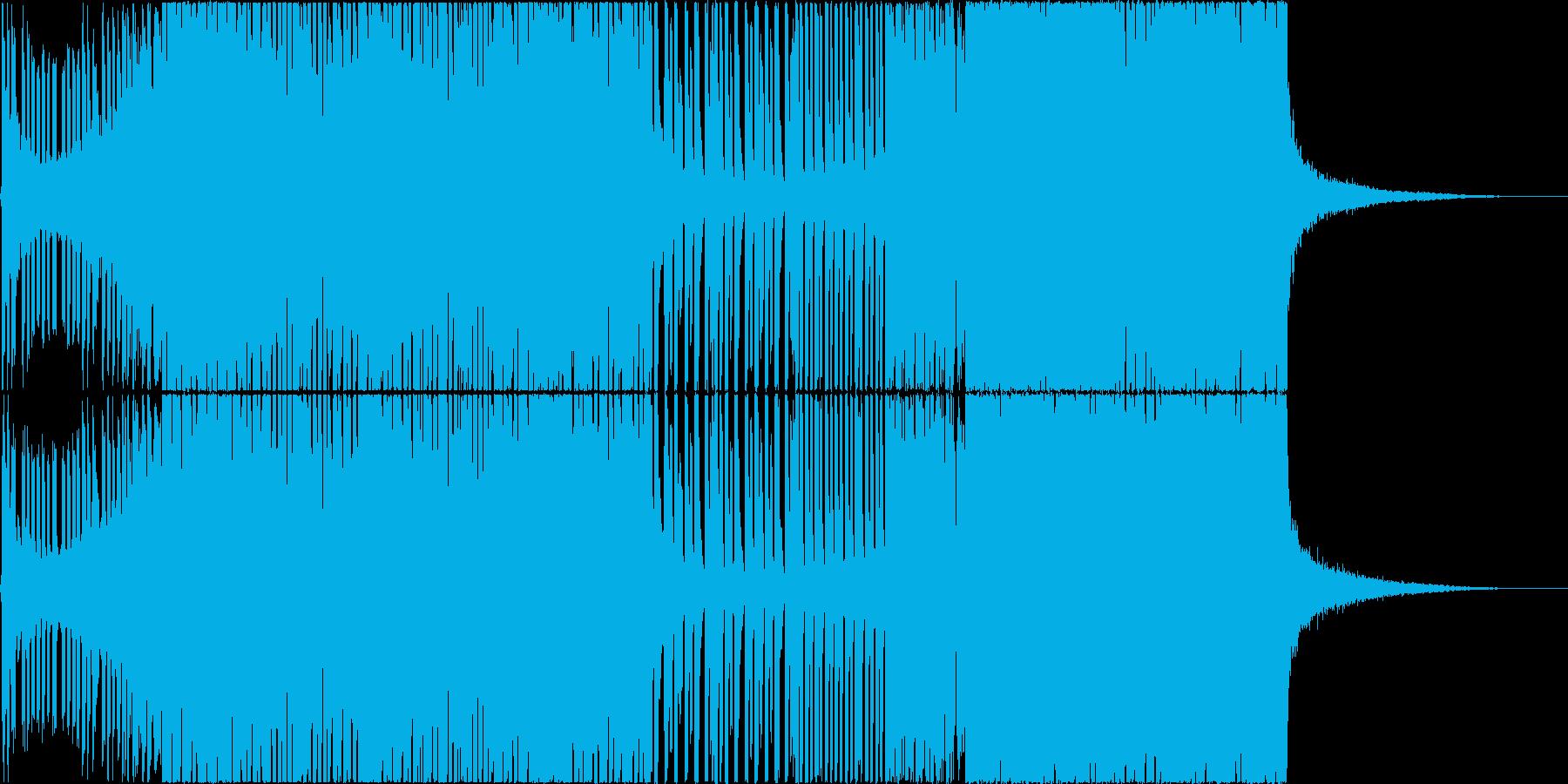 ポップでキラキラしたEDM、映像等にの再生済みの波形