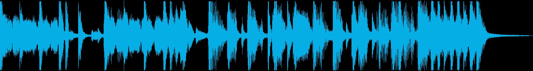 ファンキーなベースとギターのリフが...の再生済みの波形