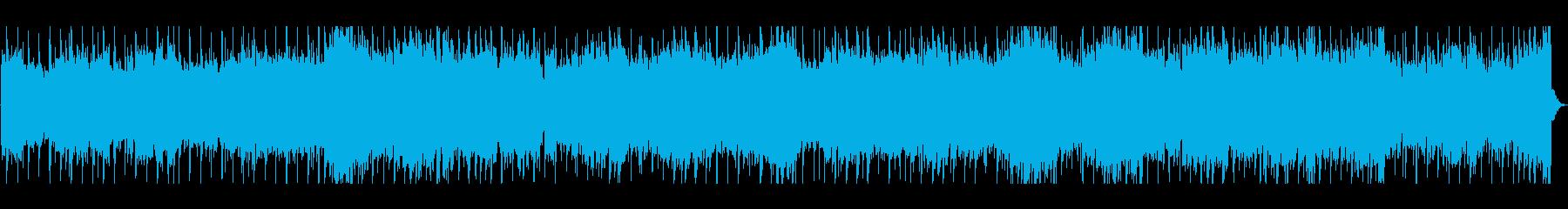 エレキギターによる開放感のあるロックの再生済みの波形